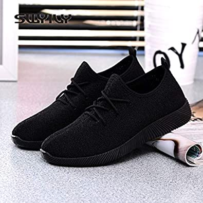 Women Sneakers Light Weight 2019 41 Woman Casual Shoes Slip On Lazy Shoes Comfortable Candy Color Breathable Net Shoe