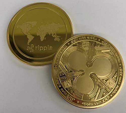 Ripple Gold Commemorative Collector's Edition Coin. 24kt gold plated. Unique design. Aizics Mint (Gold Certificate Currency)