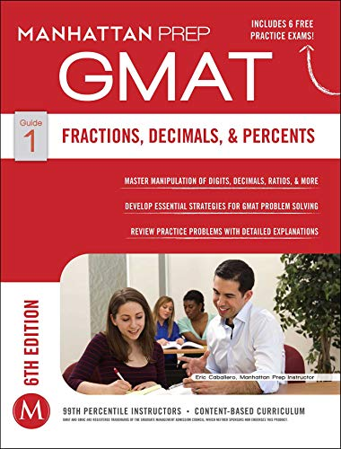 Pdf Reference GMAT Fractions, Decimals, & Percents (Manhattan Prep GMAT Strategy Guides)