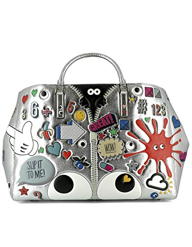 Anya Hindmarch Women's 924672 Multicolor Leather Handbag