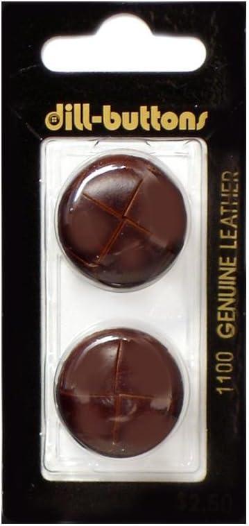 25mm Brown Shank Button x 2 buttons
