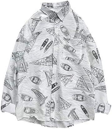 シャツ 柄シャツ メンズ 長袖 レトロシャツ ヒップシャツ 花柄 クラブ 開襟シャツ 通気 ゆったり 春 夏 秋 ホワイト ブラック M-XL