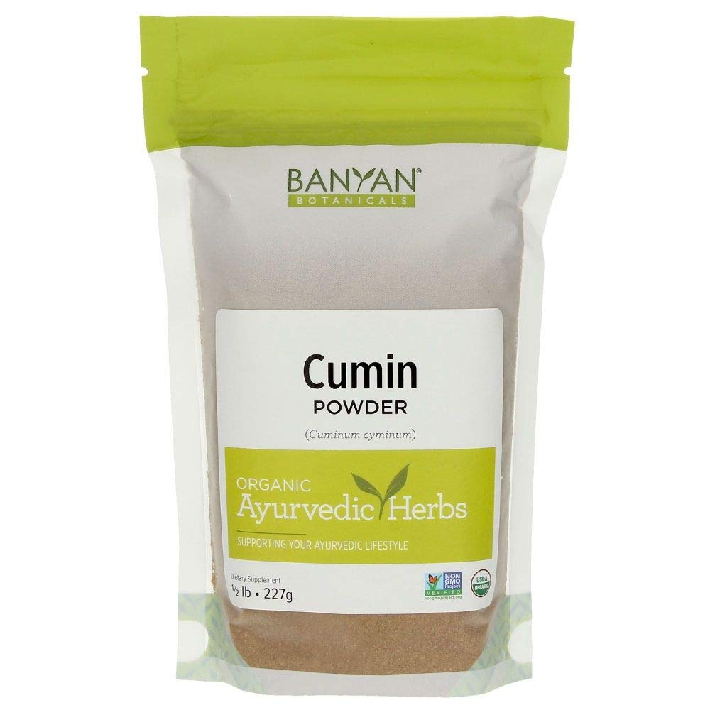 Banyan Botanicals Cumin Powder - Certified Organic, 1/2 lb - Cuminum cyminum - Common cooking spice that promotes healthy digestion