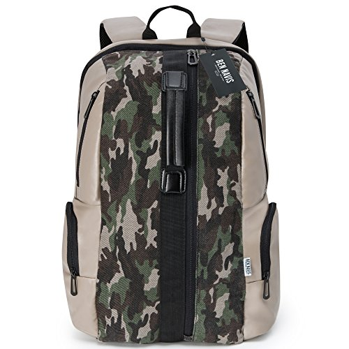 Premium Canvas Travel Backpack for Men / Women - Best Rucksack Backpacks for Hiking, Travel, Laptop, Messenger Bag.Travel Laptop Backpack designed to protect and hold your laptop while on the move. (E Fun Netbook)