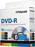 Polaroid PRMDVD0010S DVD-R 1.4GB 30-Minute 4x Recordable 8cm Mini DVD Disc, 10-Pack Spindle
