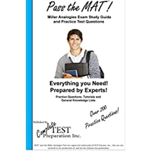 Pass the MAT!  Miller Analogies Study Guide and Practice Test Questions