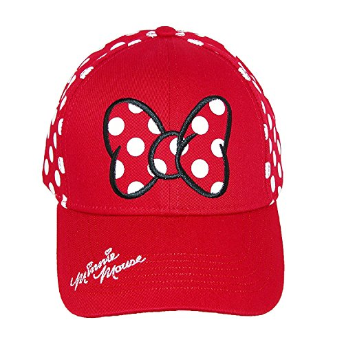 Disney Minnie Mouse Polka Dot Bow Womens Baseball Hat]()