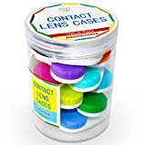 Contact Lens Cases - 12 Contact Case Value Pack, Bulk 1 Year Supply in a Convenient Storage Container, FDA Approved, Safe-Eco Friendly Premium Cases- by Vizn Pro