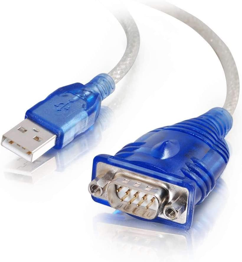 C2G/ Cables To Go 26886 USB to DB9 Serial RS232 Adapter Cable, Blue (1.5 Feet, 0.45 Meters)