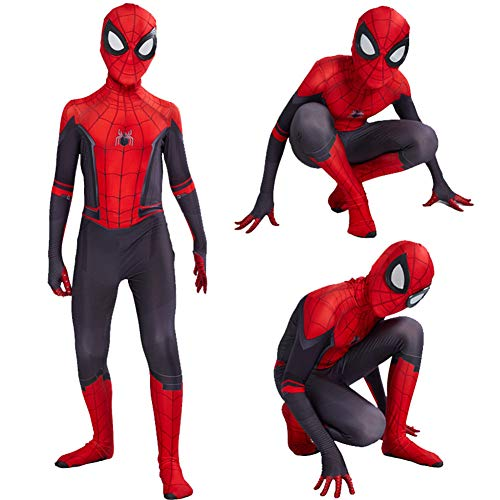 Tsyllyp Kids Adult New Spider-Man Far from Home Lycra Spandex Zentai Halloween Cosplay Costume Jumpsuit Suit -