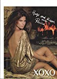 **PRINT AD** With Raica Oliveira In Gold Dress For 2008 XOXO Clothing **PRINT AD**