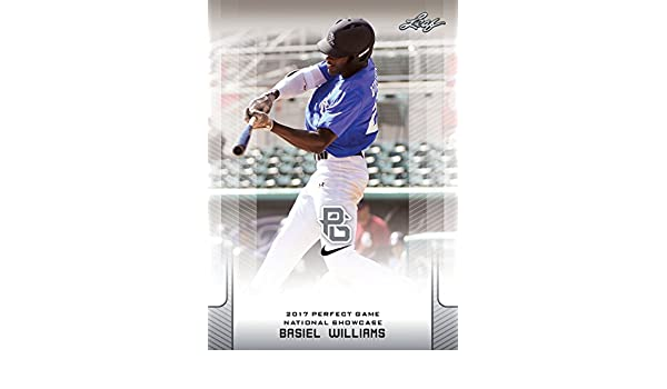 10-Count Lot Basiel Williams 2017 Leaf Perfect Game NIKE All-American Rookies at Amazons Sports Collectibles Store