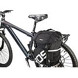 Bicycle Rear Seat Carrier Bag Double Pannier Bag Bike Commuter Bag