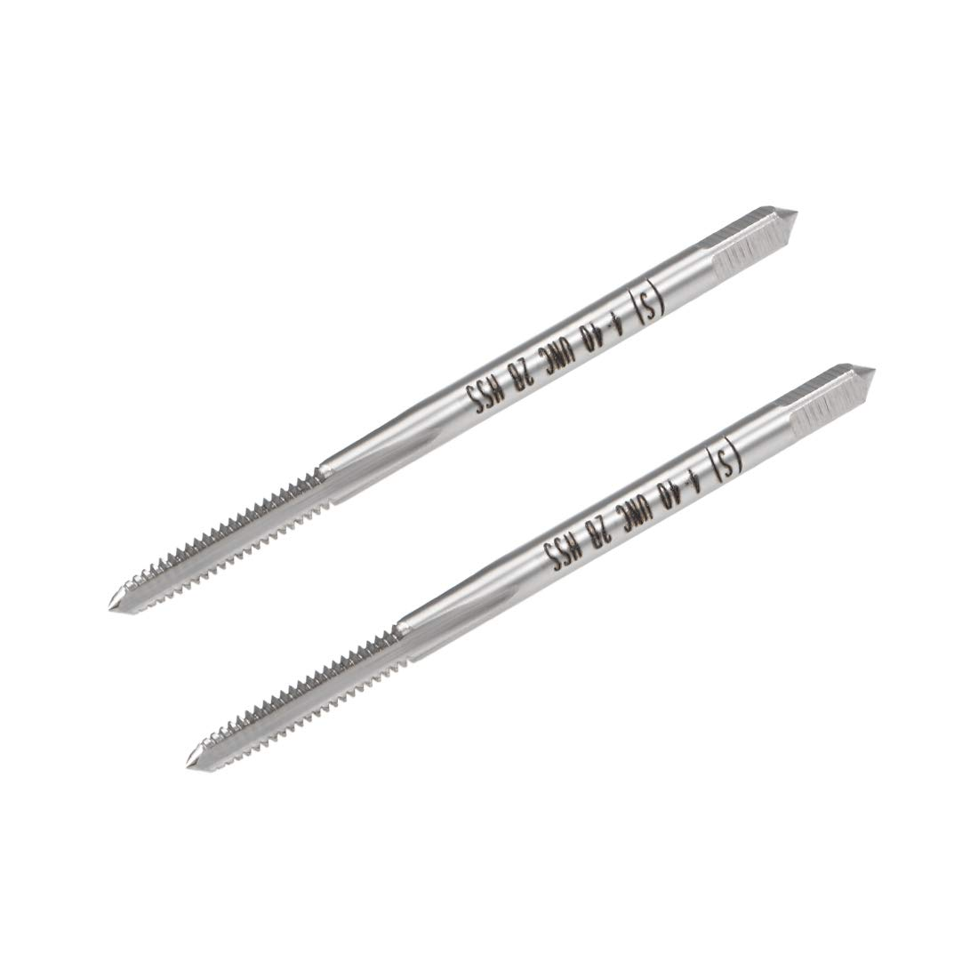 uxcell Machine Tap 5-40UNC Thread Pitch 2A Class 3 Flutes High Speed Steel