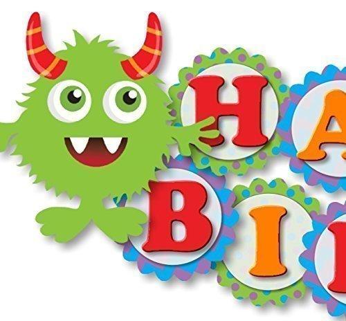 Birthday Banner Designs - Monster Birthday Banner Party Decoration Supplies -