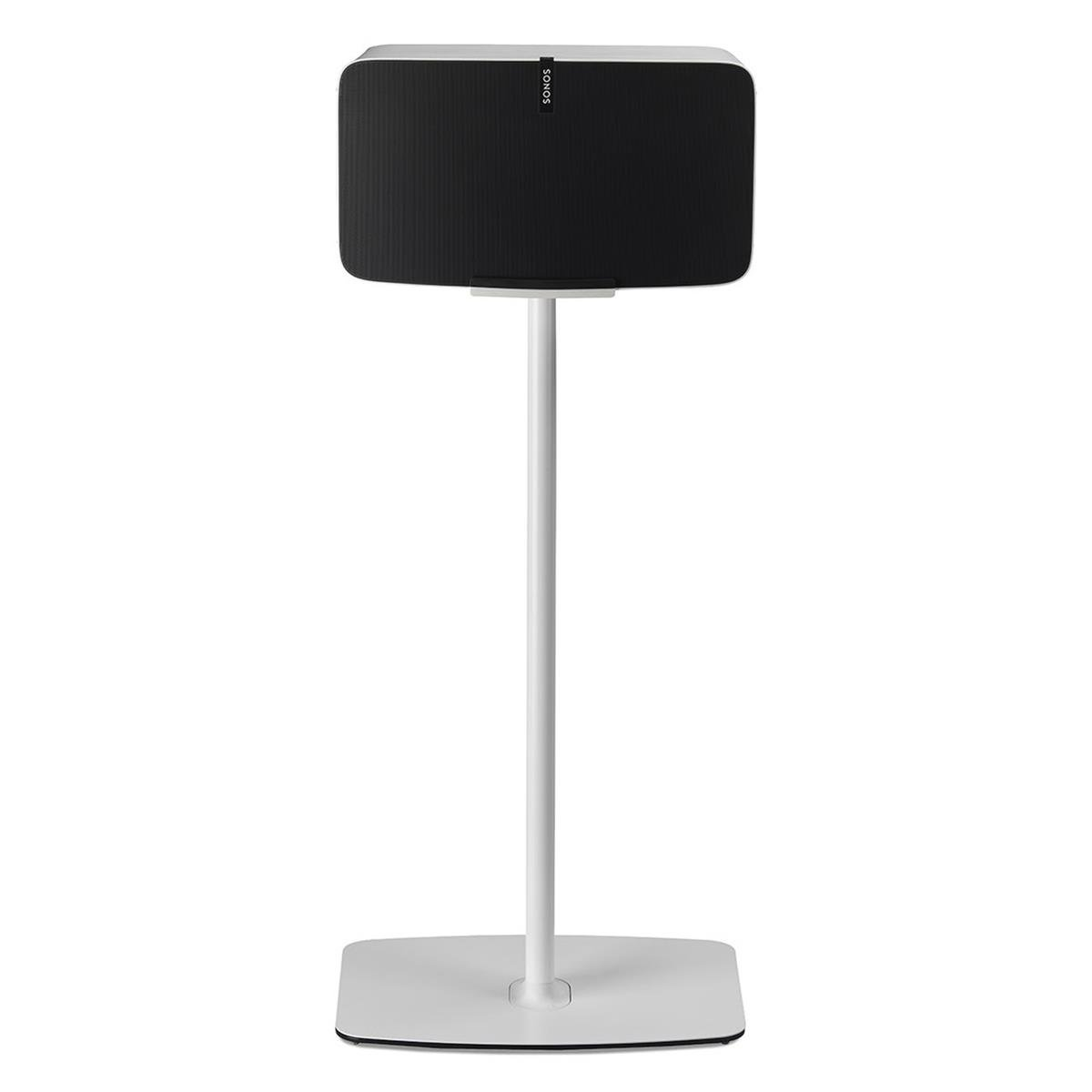 Flexson Floorstand for Sonos Play:5 Gen 2 in White (Horizontal, Single) by Flexson