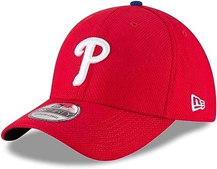 Authentic Philadelphia Phillies Diamond Era Red Classic 39Thirty Stretch Fit