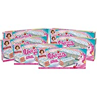 Little Debbie Unicorn Cakes, 6 Boxes, 48 Individually Wrapped Strawberry Cakes