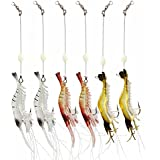 Lenink Fishing Lures,Shrimp Bait,Soft Lures Set with Hooks for Freshwater and Saltwater Bass Trout Salmon Walleye