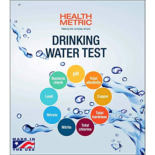 Home Drinking Water Test Kit For Tap and Well Water - Easy to Use Testing Strips For Lead Bacteria Copper Nitrate Chlorine pH and More | Made in the USA in Line with EPA Limits