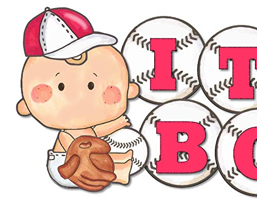 Baseball Baby Shower Banner Party Decoration for Boy