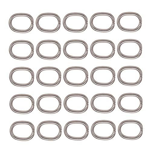 PH PandaHall 1 Bag About 40Pcs 304 Stainless Steel Close but Unsoldered Oval Jump Rings Wire 13-Gauge