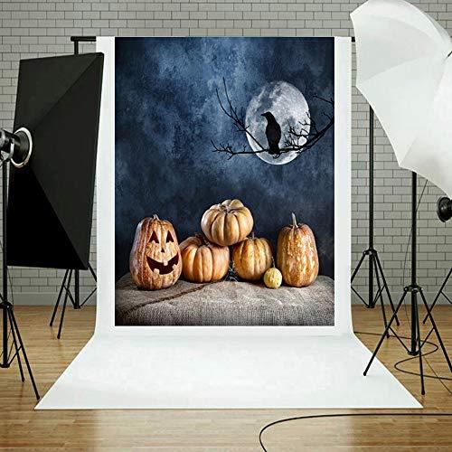 MOKO-PP Halloween Backdrops Pumpkin Vinyl 3x5FT Lantern Background