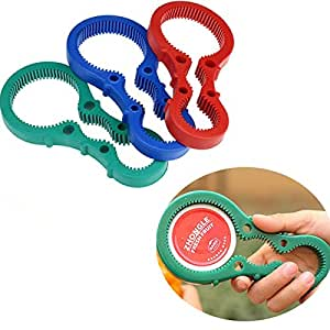 Jars Bottle Opener Can Rubber Lid Handy Twist Container Flexible Tool New / Preserves Jar Opener / Reducing Force Required To Open Jars And Bottles / Accommodates All Size Jar Lids / Cork Remover / Lid Remover / Silicone Twist Jar Opener / Almost Everything Opener. All Anti-Skid Silicone, Non-Slip - Easy For Anyone To Use, Young Or Old