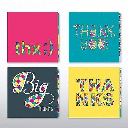 Amazon Com Colorful Thank You Cards Peek A Boo Slider Set