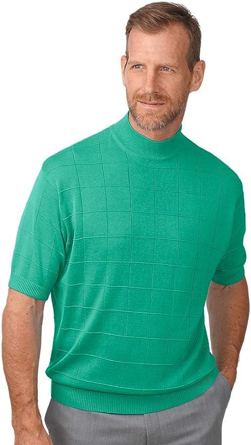 Mens Vintage Shirts – Casual, Dress, T-shirts, Polos Paul Fredrick Mens Spun Silk Mock Neck $59.00 AT vintagedancer.com