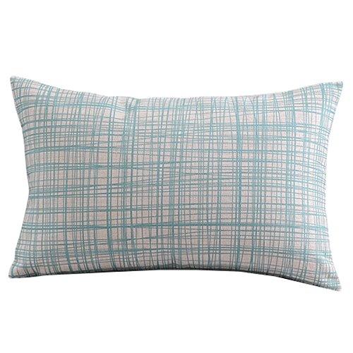 Createforlife Cotton Linen Decorative Throw Pillow Case Cush