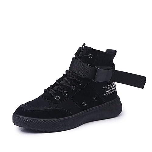 099520ced79dc YSFU Botas Botines De Mujer Patchwork Lace Up Estilo Hip-Hop Zapatos Casual  para Mujer Bootie Otoño Invierno Al Aire Libre Plana Antideslizante  Zapatillas ...