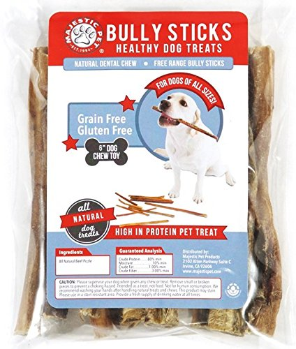 5 to 6 inch 12 package bully sticks majestic pet all natural dog chews healthy nutritious treats. Black Bedroom Furniture Sets. Home Design Ideas