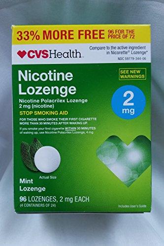 Lozenge, Stop Smoking Aid, 96 Mint Lozenges (2 mg Nicotine Each) ()