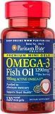 Cheap Puritan's Pride Omega-3 Fish Oil 645 mg Mini Gels (450 mg Active Omega-3)-120 Coated Softgels