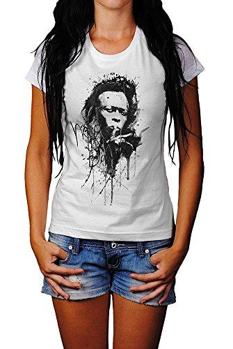 Miles-Davis T-Shirt Mädchen Frauen, weiß mit Aufdruck