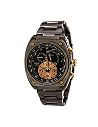 Seiko Kinetic Chronograph Limited Edition Golden Black SNL071 Mens Watch