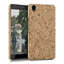 kwmobile Cork case for OnePlus X - protective case cover in light brown