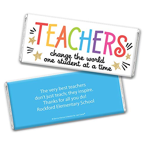 Teacher Appreciation Personalized Wrappers for Hershey's Chocolate Bars (25 Count)