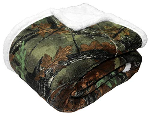 TrailCrest Soft Touch Reversible Camo Throw Blanket - 50