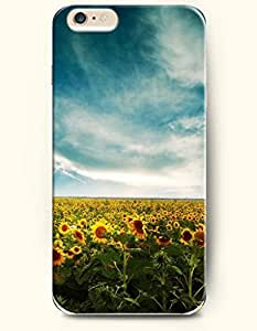 OOFIT iPhone 6 Case ( 4.7 Inches ) - Excellent sunflowers under the blue sky