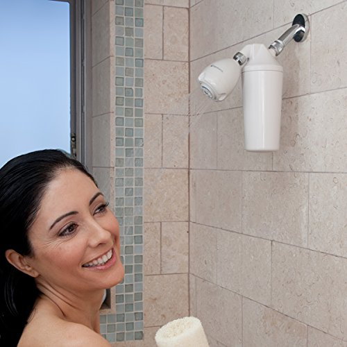 aquasana aq 4100 deluxe shower water filter system with adjustable showerhead. Black Bedroom Furniture Sets. Home Design Ideas