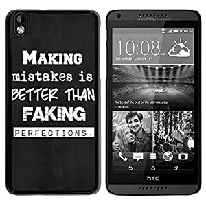 Making Mistakes Durable High Quality HTC Desire 816 Phone Case