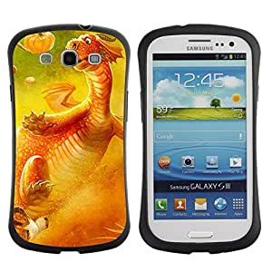 Hybrid Anti-Shock Bumper Case for Samsung Galaxy S3 / Cute Dragon
