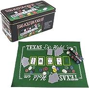 Playko Texas Holdem Poker Set - With Hold'em Poker Mat, 2 Decks of Poker Card, Poker Chips Set, Poker Chip Hol