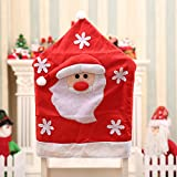 AstiVita Christmas Chair Cover Set (3D Santa Design) - Pack of 4