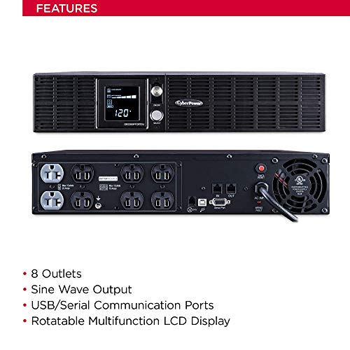 UPS System, Outlets, AVR, 2U Rack/Tower