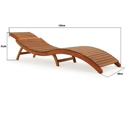 Deuba Sonnenliege Akazien Holz Faltbar Kofferfunktion Kurvig Ergonomisch Gartenliege Liegestuhl Akazie Holziege Liege