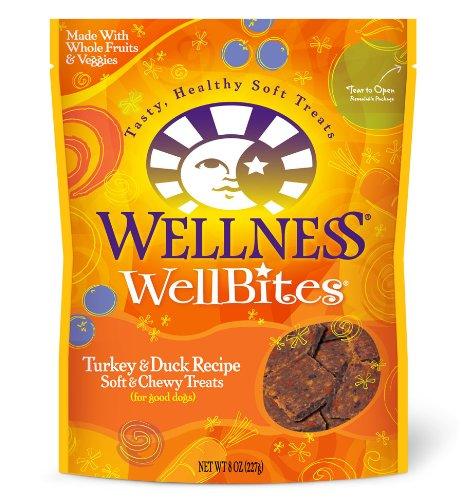 Wellness WellBites Dogs Treats, Turkey and Duck, 8-Ounce Pouch, My Pet Supplies