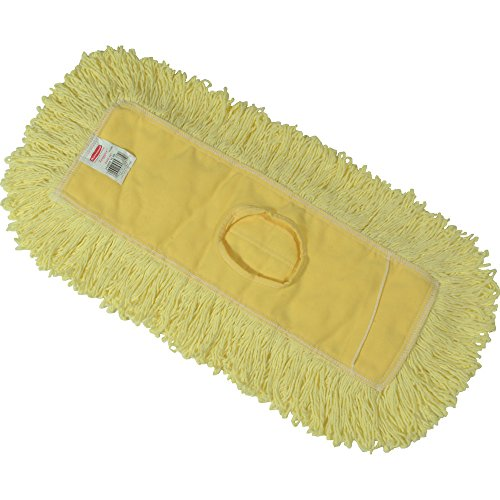Rubbermaid Commercial Trapper Dust Mop, 12-Inch Length x 5-Inch Width, Yellow (Rubbermaid Trapper)